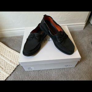 Black Topsider loafer